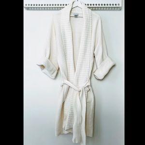 Natori Ribbed Sweater Robe - M